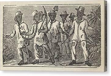 Slaves Often Travel In �coffles,� Canvas Print by Everett