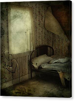 Abandoned House Canvas Print - Sleepless Prayers  by Jerry Cordeiro