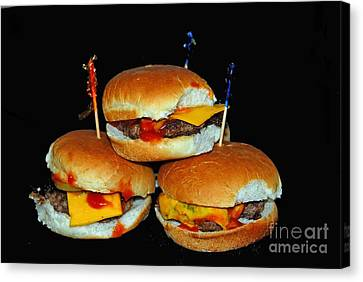 Canvas Print featuring the photograph Sliders by Cindy Manero