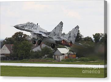 Slovak Air Force Mig-29 Fulcrum Taking Canvas Print