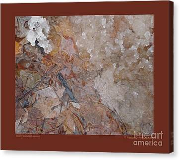 Slushy Autumn Leaves-i Canvas Print by Patricia Overmoyer