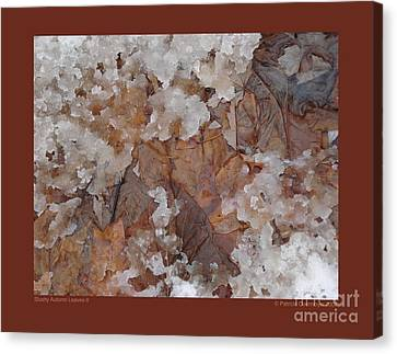 Slushy Autumn Leaves-ii Canvas Print by Patricia Overmoyer