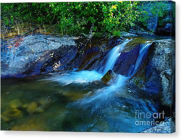 Snow Melt Canvas Print - Small Blue Water by Jeff Swan