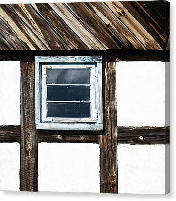 Canvas Print featuring the photograph Small Blue Window by Agnieszka Kubica