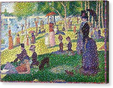 Small Bubbly Sunday On La Grande Jatte Canvas Print by Mark Einhorn