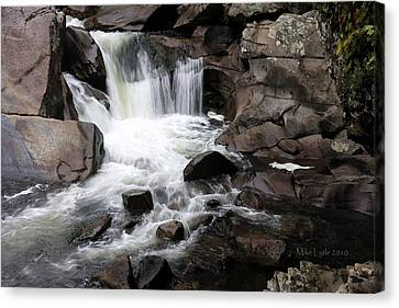 Small Falls 1 Watercolor Canvas Print by Mike Lytle