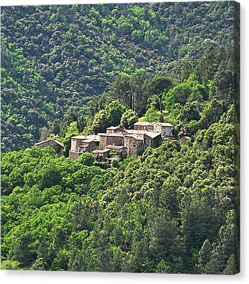 Small House On Mountain Canvas Print by Filou-France