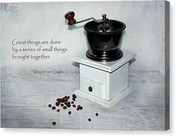 Kim Klassen Texture Canvas Print - Small Things Brought Together by Steppeland -