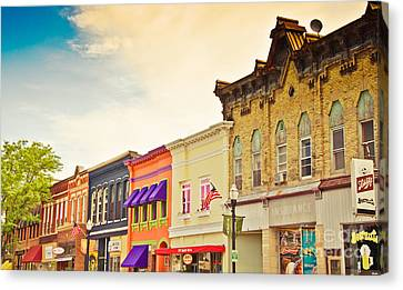 Small Town Colors Canvas Print by Christina Klausen