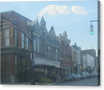 Canvas Print featuring the photograph Small Town Proper by Tina M Wenger