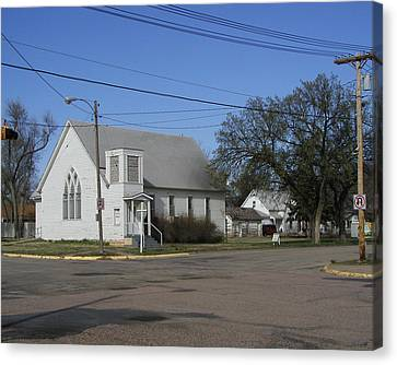 Small Town Religion Canvas Print by Steve Sperry