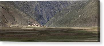 Small Village In A Mountain Valley Canvas Print by Phil Borges