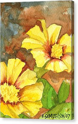 Small Yellow Flowers Canvas Print by Eric Samuelson