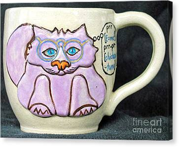 Smart Kitty Mug Canvas Print by Joyce Jackson