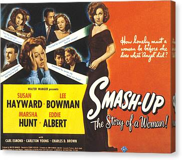 Smash-up The Story Of A Woman, Susan Canvas Print by Everett