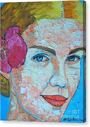 Smiling Girl Canvas Print by Ana Maria Edulescu