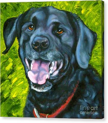 Smiling Lab Canvas Print by Susan A Becker