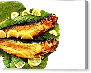 Smoked Fish Canvas Print by Soultana Koleska