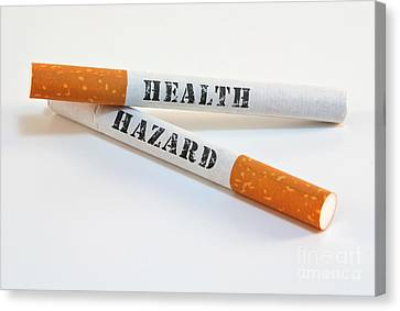 Smoking Is A Health Hazard Canvas Print by Blink Images
