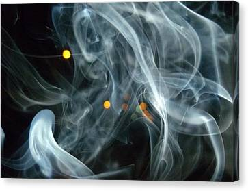 Canvas Print featuring the mixed media Smoking Painting by Beto Machado