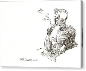 Smoking Canvas Print by Robert Schnieders