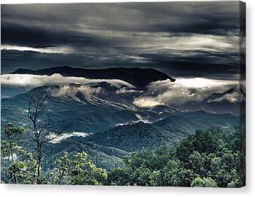 Smoky Mountain Clouds    Canvas Print by Glenn Lawrence