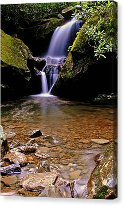 Smoky Mountain Falls Canvas Print by Frozen in Time Fine Art Photography