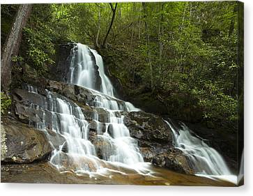 Smoky Mountain Waterfall Canvas Print by Andrew Soundarajan