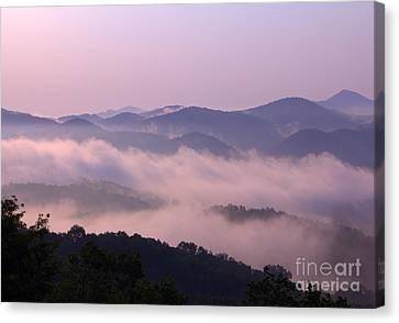 Smoky Sunrise Canvas Print