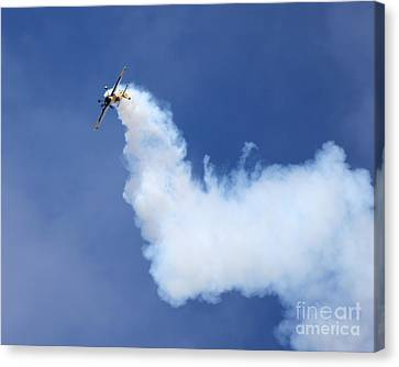 Canvas Print featuring the photograph Smoky Trail by Alex Esguerra