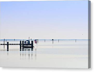 Smooth As Glass Canvas Print by Bill Cannon