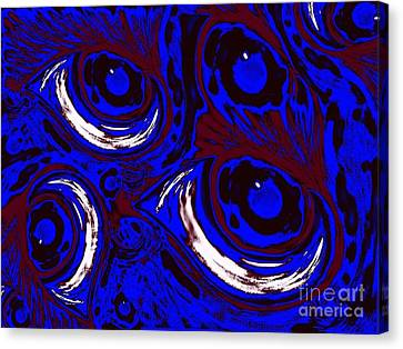 Smudge Eyes Canvas Print by Tina Logan