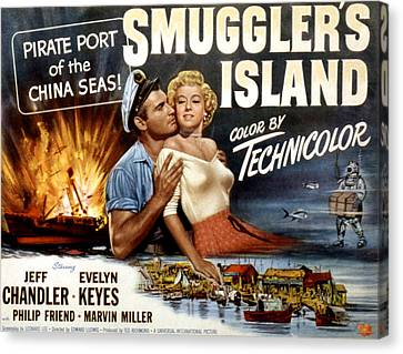 Fid Canvas Print - Smugglers Island, Jeff Chandler, Evelyn by Everett