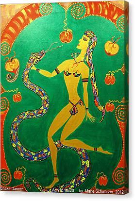 Snake  Dancer Canvas Print by Marie Schwarzer