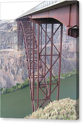 Canvas Print featuring the photograph Snake River Bridge At Twin Falls by Rand Swift