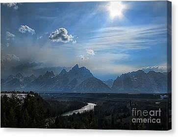 Canvas Print featuring the photograph Snake River Overlook by Clare VanderVeen
