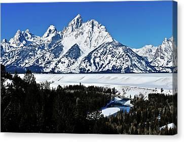 Snake River Winter Overlook Canvas Print