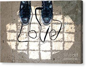 Sneaker Love 1 Canvas Print by Paul Ward