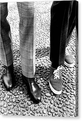 Sneakers Right, W Mod Ankle Boots, 1966 Canvas Print by Everett