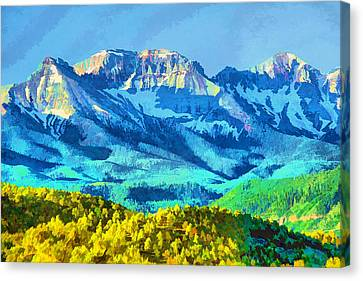 Sneffels Range Canvas Print by Brian Davis