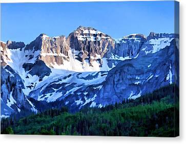 Canvas Print featuring the digital art Sneffels Range Evening by Brian Davis