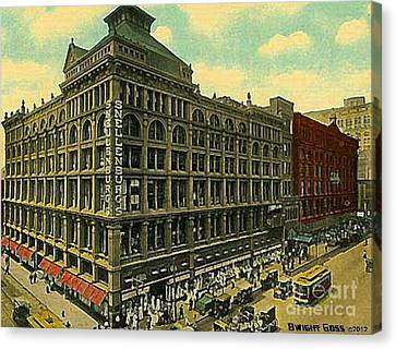 Snellenburg's Department Store In Philadelphia Pa Around 1910 Canvas Print
