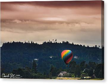 Snohomish Baloon Ride Canvas Print by Charlie Duncan