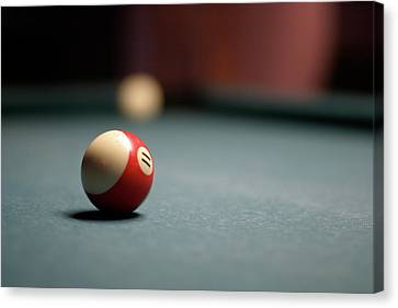 Snooker Ball Canvas Print by Photo by Andrew B. Wertheimer