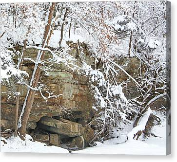 Snow And Sandstone Canvas Print