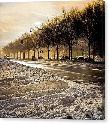 Snow And Sun On Twelfth Canvas Print by Chris Lord
