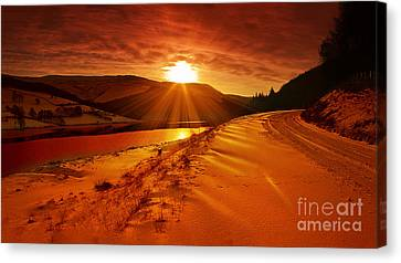 Snow At Derwent Canvas Print