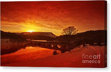 Snow At Ladybower Canvas Print