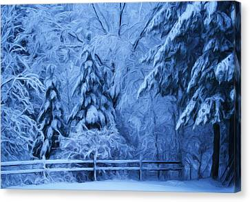 Snow Blanket At Twilight Canvas Print
