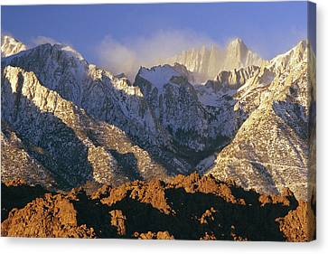 Snow Blows From Mount Whitney. The Canvas Print by Phil Schermeister